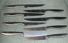Set of 8 ~ CHICAGO CUTLERY STEAK KNIVES  ~ Stainless Steel ~  Serrated
