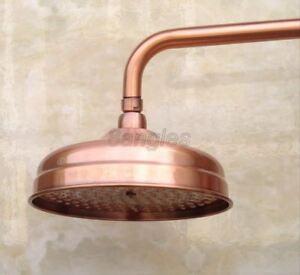 Antique Red Copper Round Shower Head Over-head Shower Sprayer Top Shower Head