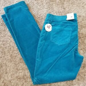 Kohls So Juniors Size 15 Ocean Teal corduroy stretch pants~ New with tags~