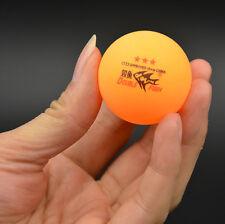 50Pcs DOUBLE FISH 3-Stars 40mm Olympic Table Tennis Balls Orange Ping Pong Ball