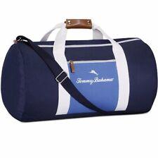 f44b3e589c02fc Tommy Bahama Gym Bag Travel Carry Duffle Bag, Navy/White Nautical Canvas Bag  NEW