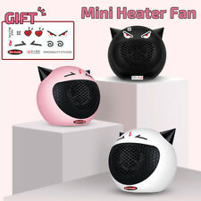 ❤ Portable Mini Cute Electric Heater Fan Space Room Wamer Home Office Thermostat