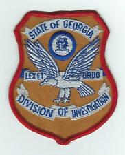 VINTAGE GEORGIA  DIVISION OF INVESTIGATION (CHEESE CLOTH BACK) patch