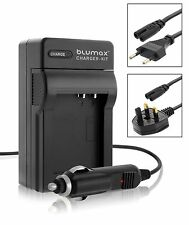 Mains & Car Charger for Olympus PS BLM1 BLM-1 E-520 E-510 E-500 E-5 E-3 Battery