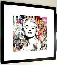 Marilyn Monroe-lujo arte enmarcado impresión Graffiti-Mr Brainwash-Banksy-Pop Art