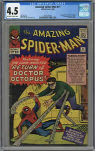 AMAZING SPIDER-MAN #11 CGC 4.5 OFF-WHITE TO WHITE PAGES 1964