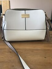 Gorgeous River Island White & Nude Bag with Adjustable Shoulder Strap