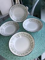 Noritake Japan SAVANNAH  2031 Fruit Bowls Set of 4 New Condition! Platinum Edge