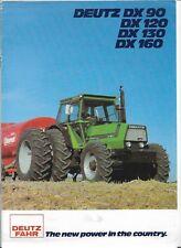 Original Deutz Fahr Models DX90 DX120 DX130 DX160 Tractor Sales Brochure 9138012