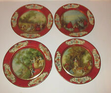 4 lithographed victorian tinplates FRANCE  Advertising  Chocolate Hermitage