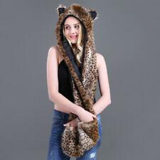 Cartoon Animal Hat Plush Beanie Fleece Winter Warm Fluffy Hooded Cap Earmuff Hat