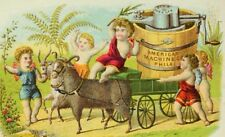 1870's-80's American Machine Co Ice-Cream Cherubs Cart Pulled By Goats P58