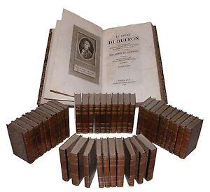 Buffon Opere Conte Lacepede Storia Naturale Venezia all'Apollo 1820 Leclerc