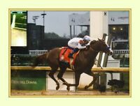 JUSTIFY wins Kentucky Derby Triple Crown 8x10 Double Matted 5x7 Photo print