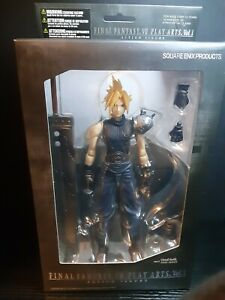 FINAL FANTASY VII PLAY ARTS Vol.1 Cloud Strife Action Figure-Tore Box/Unopened