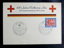 TIMBRES D'ALLEMAGNE : RFA ENCART 100 JAHRE ROTKREUTZ - IDEE - OBL. du 21 6 1959
