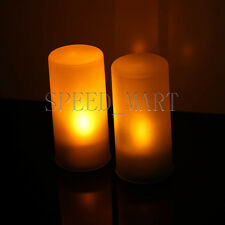 Yellow Led Electronic Candle Night Light Sound Sensor Control Flicker Home