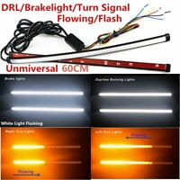 60CM Pair Switchback Flowing Car DRL LED Knight Rider Light Strip Tube 2in1