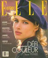 OCT 1989 (QUEBEC) ELLE vintage fashion magazine