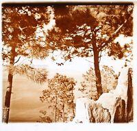 Vista Del Mer c1930 Foto Placca Da Lente Stereo Vintage VR16L17n16