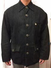 Genuine Authentic Vintage Versace Soft Leather Coat Size Medium