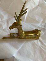 "Vintage Brass Deer Laying Down-8 X7"""