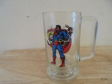 Vintage 1978 Superman Glass Beer Mug