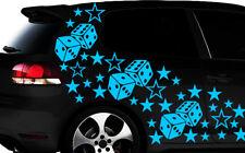 93-teiliges Sterne Würfel Cube Star Auto Aufkleber Tuning WANDTATTOO Blumen