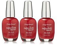 LOT OF 3 - Store Pull Sally Hansen Nail Growth Miracle 330 Stunning Scarlet