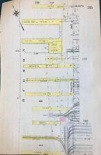 ORIGINAL 1912 HELL'S KITCHEN, UPPER WEST SIDE, MANHATTAN, NY PLAT ATLAS MAP 6X9