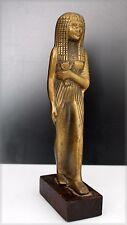 Statuette égyptienne en bronze, H: 18 cm