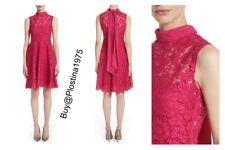 NEW $4500  Valentino Tie Neck Guipure Lace Dress  Size :10   #B116
