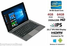 "CHUWI 10.1"" Hi10 Pro Tablet PC Ultrabook 4GB+64GB 4-Core WIFI Gris BT4.0 Teclado"