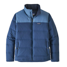 Patagonia Men's Bivy Down Winter Jacket Large Stone Woolly Blue Navy Goose $249