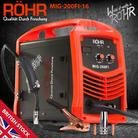 ROHR MIG Welder Inverter IGBT 240V / 200 amp DC Gas Flux Wire Welding Machine