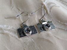 NEW Silver Camera Earrings Boho Trendy Cute Fashion Jewelry Funky Unique
