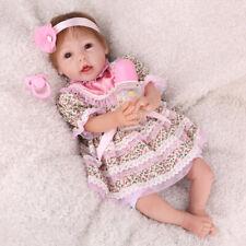 "Realistic 22"" 55cm Reborn Baby Dolls Newborn baby Girl Silicone Vinyl Toys Gift"