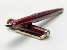 Vintage Montblanc 0221 Fountain Pen in Bordeaux Color