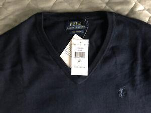 Polo Ralph Lauren Pima Cotton Navy Jumper Size Large