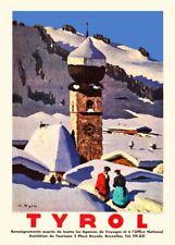 Vintage Ski Posters TYROL, Austria, 1935 Travel Print
