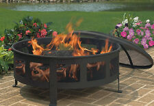 CobraCo Bravo Outdoor Mesh Fire Pit Burning Fireplace Patio Heater Steel Bowl