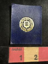 Vtg In Latin YALE UNIVERSITY 100 Year Old Tobacco Leather Patch 91YH