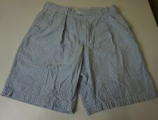 Peter Millar 100% Seersucker Cotton Pleated Golf Shorts Men's Size 34