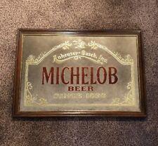 Vintage 1986 Michelob Beer Mirror Anheuser Busch 18 x26 1896 Sign Display Bar