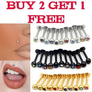 Tragus Bar Helix Lip Labret Monroe Lip Nose Top Ear Bar Stud EarRing Ring Hoop