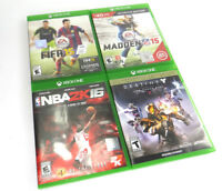 Xbox One Destiny and Sports Games Lot Fifa Madden NBA EUC