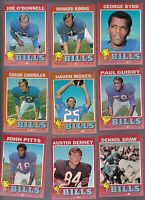 1971 Topps Team LOT of 9 Buffalo BILLS NM Dennis Shaw (R) Haven MOSES