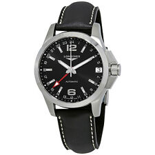 Longines Conquest GMT Black Dial Automatic Mens Watch L36874562