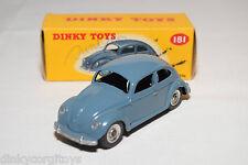 P DINKY TOYS 181 VW VOLKSWAGEN BEETLE KAFER RAF BLUE SPUN MINT BOXED RARE SELTEN