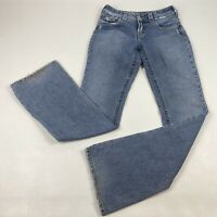 Silver Suki Slim Boot Cut Stretch Jeans Womens Size 27x34 Blue Meas. 28x34